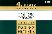 "Place 4 – Category Congress ""The best conference hotels in Germany""!"