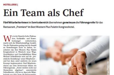 Best Western Plus Palatin econo Ein Team als Chef